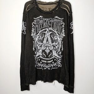 Affliction Reversible Long Sleeve Shirt 2XL